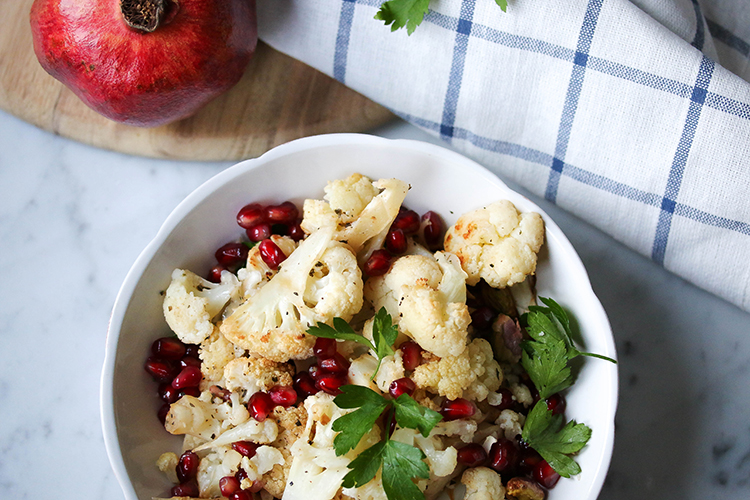 Spicy Cauliflower and Pomegranate Salad
