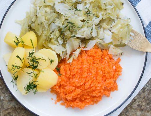 Polish cabbage and potatoes
