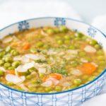 one pot protein peas soup