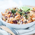 red beans carrot salad with dill