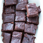Easy Raw Vegan Frosted Chocolate Brownies