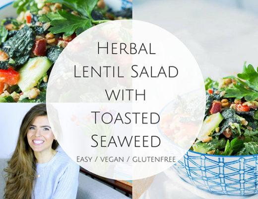 video Herbal Lentil Salad with Toasted Seaweed