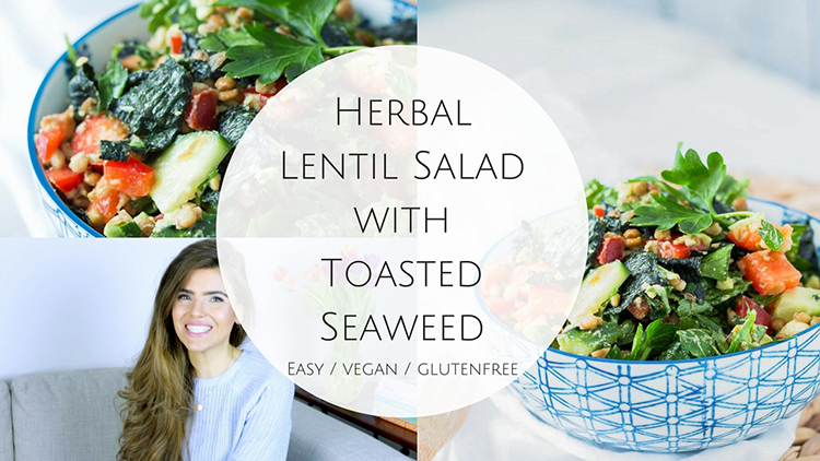 video Herbal Lentil Salad with Toasted Seaweed