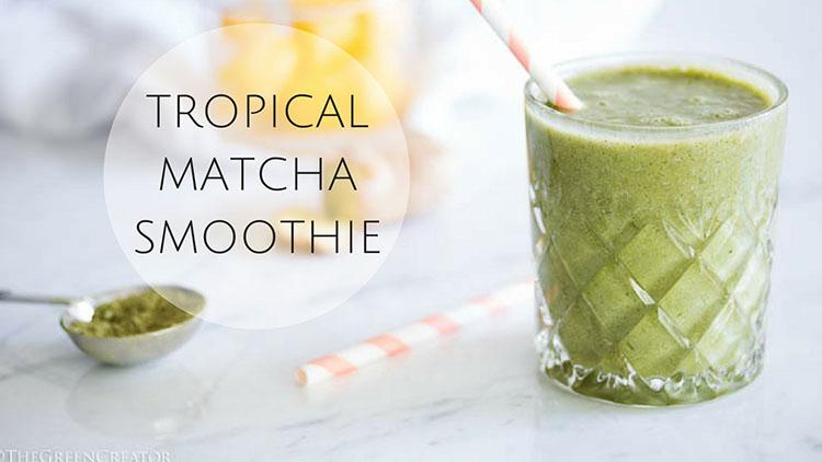 Tropical Matcha Smoothie