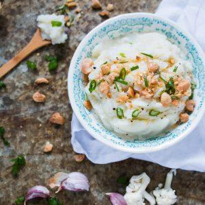 Cauliflower Parsnip Mash with Roasted Garlic