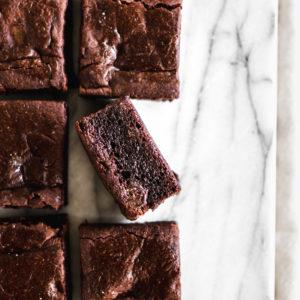 The Best Black Bean Brownies (oil-free, gluten-free, vegan)