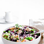 Summer Slaw Salad with Peaches with Creamy Baobab Dressing