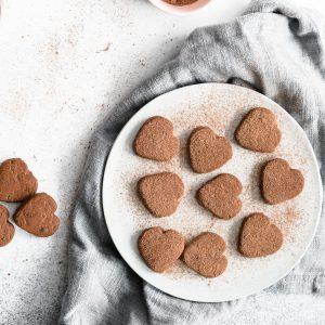 Dark Chocolate Shortbread Cookies